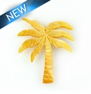 MOP Laser cut pendant  palm tree des. 35mm
