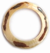Mother Of Pearl Shell  With Spotted Skin Hoop Pendant 45mm