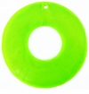 Neon Green Capiz Shell Donut Pendants