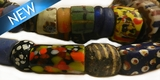 Old mixed glass African trade beads graduated 6-12mm