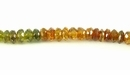 Orange Tourmaline Faceted Rondelle Beads 2x3mm