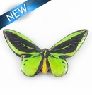paper print wrapped wood pendant goliath birdwing butterfly 81x48x5mm