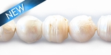 Pearl button baroque white 13-14mm