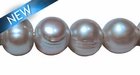 Potato Pearl Large Hole - Silver 11mm