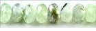 Prehnite Green Faceted Rondelle Beads 8x6mm