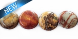 Red creek jasper coin 10 x 5mm