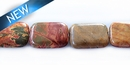 Red creek jasper rectangle 15x18mm