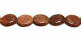 Red Oval Goldstone Beads