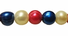 Red, White & Blue Potato Pearl Big Hole 9mm