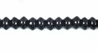 Rondelle Black Agate Beads 3.5x5.5mm