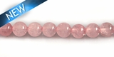Rose Quartz 4mm round Beads DYED