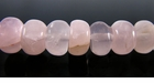Rose Quartz Rondelle Beads 7x4mm