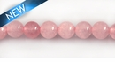 Rose quartz round beads 6mm DYED