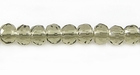 Smoky Quartz Rondelle Faceted Beads 6mm