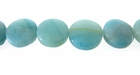 Smooth Coin Amazonite Beads 12x4mm