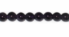 Smooth Round Dark Amethyst Beads 6.5mm