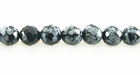 Snowflake Obsidian Round Beads Faceted 6mm