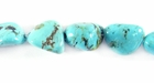 Stab. Turquoise Nugget Beads 5-10mm
