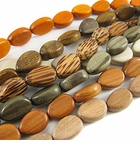 Teardrop & Oval Wood Beads