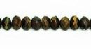Tiger Eye Faceted Rondelle Beads 5x8mm