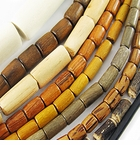 Tube , Rice & Heishi Wood Beads