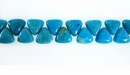Turquoise Triangle Beads 6x6x4mm