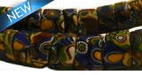 Venetian millefiore glass African trade beads approx 20mm