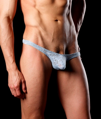 Good Devil Lace Thong Grey