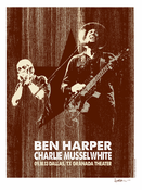 Ben Harper and Charlie Musselwhite Dallas, TX 09.10.13 Poster