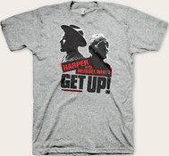 Ben Harper & Charlie Musselwhite - Get Up! Tee (Heather Gray Edition)