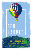 Ben Harper Denver 11.08.2013 Acoustic Tour Poster