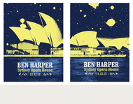 Ben Harper Sydney Opera House Nights 1 & 2 Acoustic Tour Poster Set