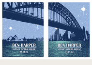 Ben Harper Sydney Opera House Nights 3 & 4 Acoustic Tour Poster Set