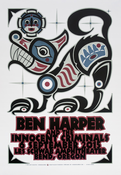 Ben Harper & The Innocent Criminals Bend, OR Autographed Tour Poster
