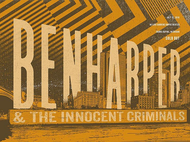 Ben Harper & The Innocent Criminals Grand Rapids, MI 07.13.2016 *Autographed* Tour Poster