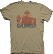 Ben Harper & The Innocent Criminals Mens Silhouette Tee (Light Olive)