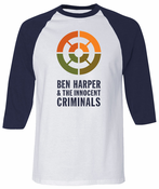 Ben Harper & The Innocent Criminals Navy Raglan Unisex Tee