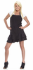 Beauty Love Frill Apron - Black Tie