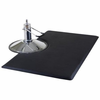Salon Floor Mat -Rectangular(solid black or marbled flecked)