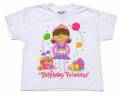 Adorable Originals Girls Brunette Happy Birthday Princess Tee Shirts