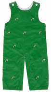 Anavini Baby / Toddler Boys Green Corduroy / Embroidered Candy Canes Longall