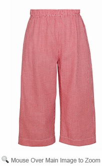 Anavini Boys Elastic Waist Pull On Pants Red Gingham