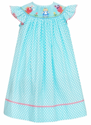 Anavini Infant Toddler Girls Turquoise White Dots