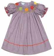 Fall Smocked Dresses For Girls Check Dress Smocked Fall