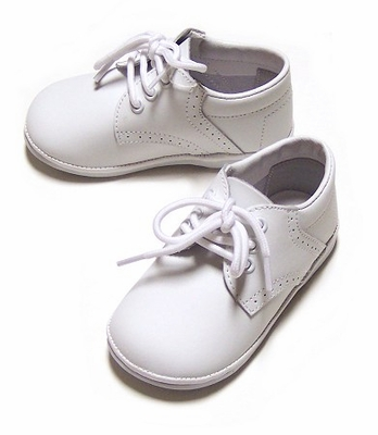 Amour Angel Baby Boys White Leather Dress Oxfords Shoes