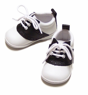 Angel Children S Black And White Saddle Oxford Shoes