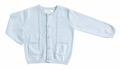 Angel Dear Baby / Toddler Boys Harborside Cable Cardigan Sweater - Pale Blue