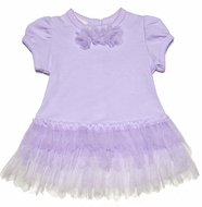 Baby Biscotti Infant Girls Lilac Lavender Tulle Dress with Bloomers