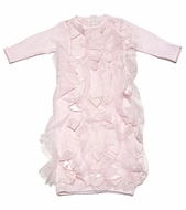 Baby Biscotti Infant Girls Ma Cherie Amour Pink Ruffles Gown
