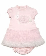 Baby Biscotti Infant Girls Pink Fluffy Easter Bunny Dress with Bloomers